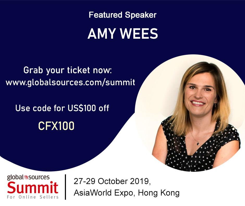 Amy Wees global sources summit at the AsiaWorld Expo Hong Kong