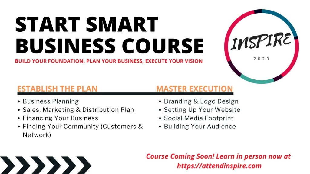 Start Smart Business Course Inspire Business Conference