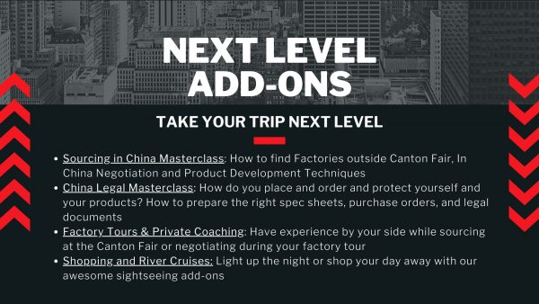 Amazing in China Canton Fair Group Trip Add-Ons