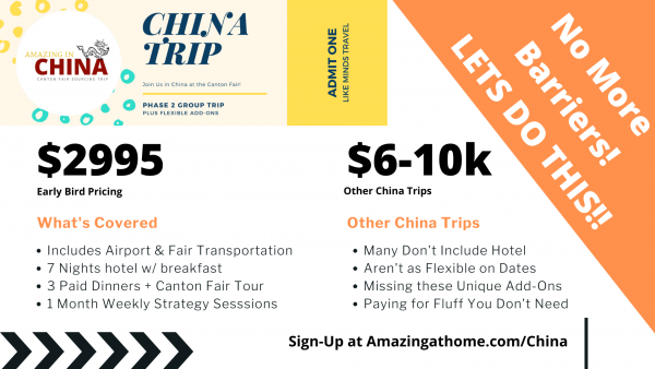 Canton Fair October 2020 Amazing in China Group Sourcing Trip